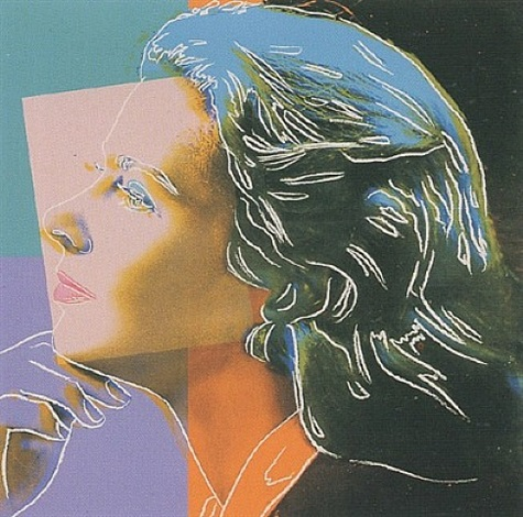 ingrid bergman - herself [ii.313] by andy warhol